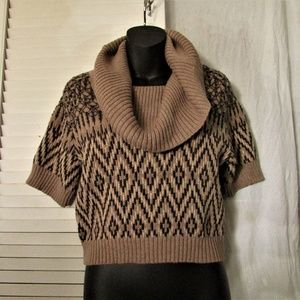 INC wool cotton cowl neck sweater large